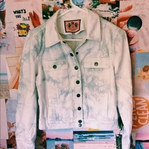Juicy couture size small marbled jean jacket